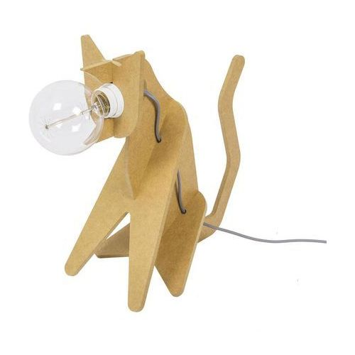 GET OUT - Lampa stojąca Kot Żółty Dł.35cm, CJ01SA002040