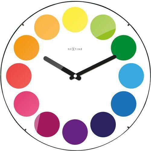 Nextime Zegar ścienny dots dome 35 cm (3166) (8717713017301)
