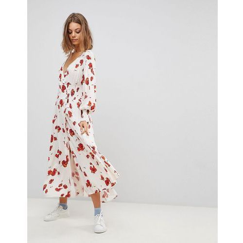 Free People So Sweetly Mutton Sleeve Midi Dress - White