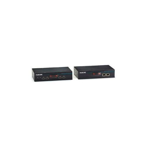 Extender, repeater DisplayPort, Audio, stereo (3.5 mm jack), Cyfrowe wyjście audio (koncentryczne), USB 1.1, USB 2.0, RS232, S/PDIF (TOSLINK) Black Box ACU5800A, przez kabel sieciowy RJ45, 150 m, 3840 x 2160 px (kabel video)