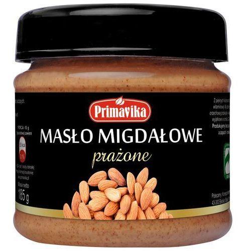 Masło migdałowe słodzone agawą 185g marki Primavika