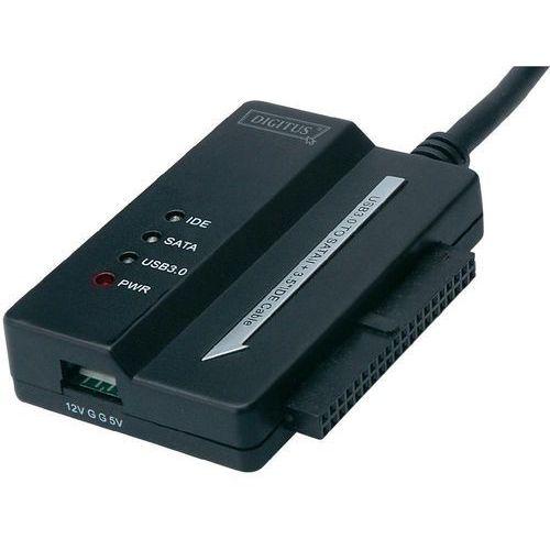 Digitus Przejściówka, adapter usb 3.0  da-70325, wtyk usb a <=> sata/ide, czarny (4016032306481)