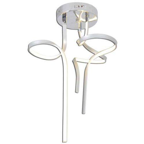 Plafon lampa sufitowa loop line 1186859 designerska oprawa metalowa nowoczesna led 36w spirala srebrna marki Nave