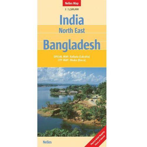 Indie północno-wschodnie, Bangladesz. Mapa samochodowa, składana. Nelles Map (9783865742315)