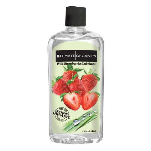 Smakowy żel nawilżający - Intimate Organics Wild Strawberries Lube 120 ml truskawki