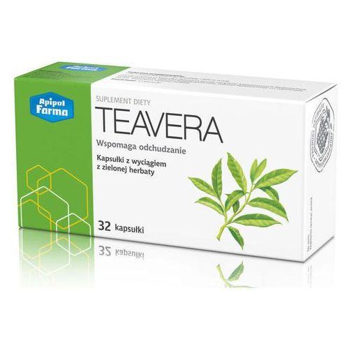 Teavera wyciąg z zielonej herbaty x 32 kapsułki marki Apipol-farma