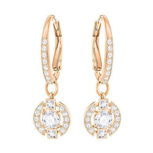 sparkling dance round pierced earrings, white white rose gold-plated od producenta Swarovski