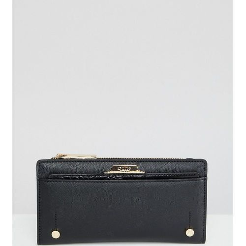 Dune Exclusive Kerrie Black Slim Purse With Removeable Cardholder - Black, kolor czarny