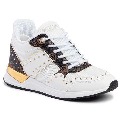 Guess Sneakersy - rejjy fl5rej fal12 white/brown