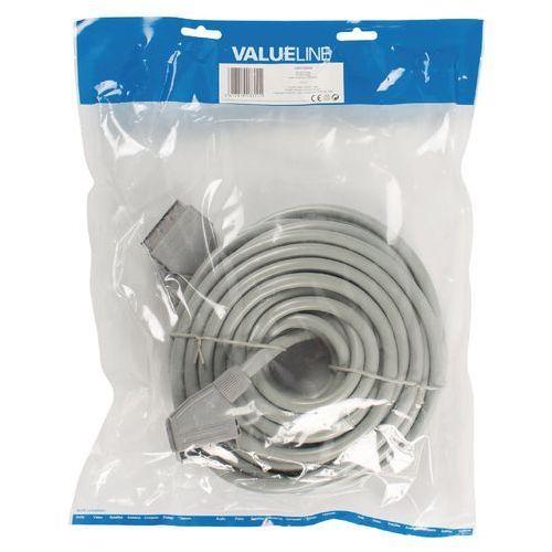 Kabel Scart wtyczka – wtyczka Scart – Scart 10,0 m Srebrny, VLVP31000S100