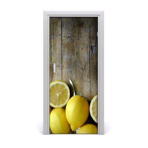 Naklejka na drzwi do domu samoprzylepna cytryny marki Tulup.pl
