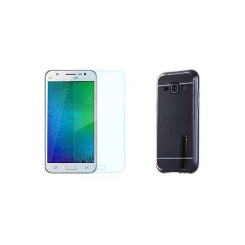 Zestaw   Slim Mirror Case Czarny + Szkło ochronne Perfect Glass   Etui dla Samsung Galaxy A5