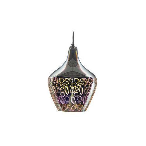 Lampa wisząca ze szkła chromowana srebrna SOANA