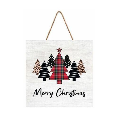 Knor Tabliczka świąteczna choinki 30 x 30 cm