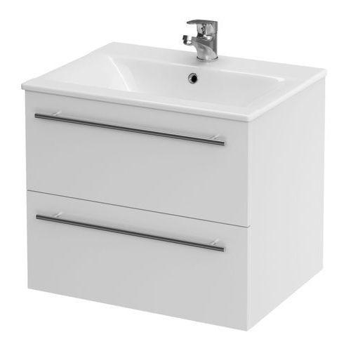 Cersanit Zestaw szafka z umywalką elisa 50 cm biały
