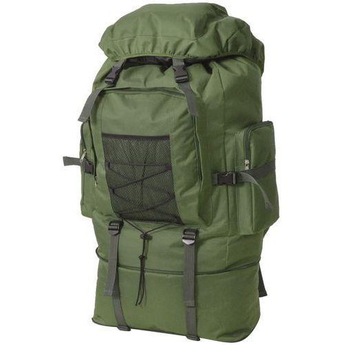 Vidaxl plecak xxl w wojskowym stylu, 100 l, zielony