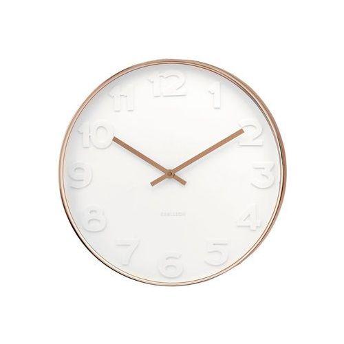 Karlsson:: Zegar ścienny Mr. White Numbers, kolor biały