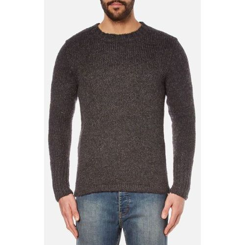 men's caught knitted jumper - charcoal grey melange - l, marki Cheap monday