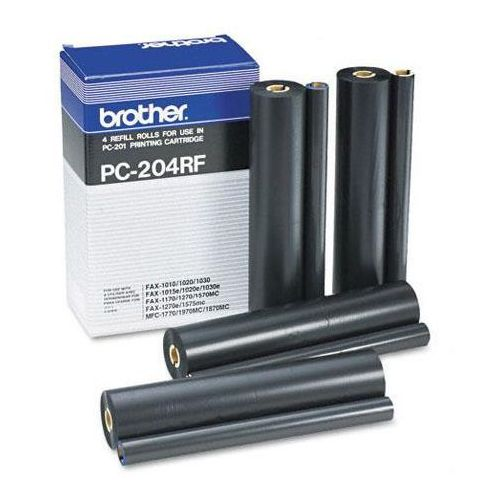 Brother 4 x folia termotransferowa Black PC-204RF, PC204RF, PC-204RF