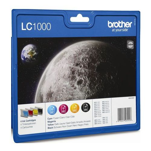 Brother 4 x tusz CMYK LC-1000VALBP, LC1000VALBP, LC1000VALBP