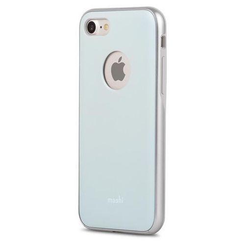 Moshi iGlaze Etui Obudowa iPhone 8 / 7 (Powder Blue), kolor niebieski