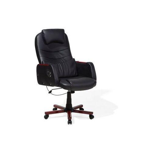 Beliani Krzesło biurowe czarne captain