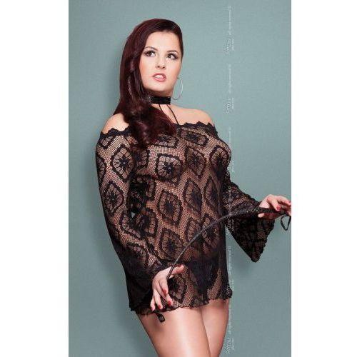 Xsora - plus size - black 1775 tunika marki Softline collection