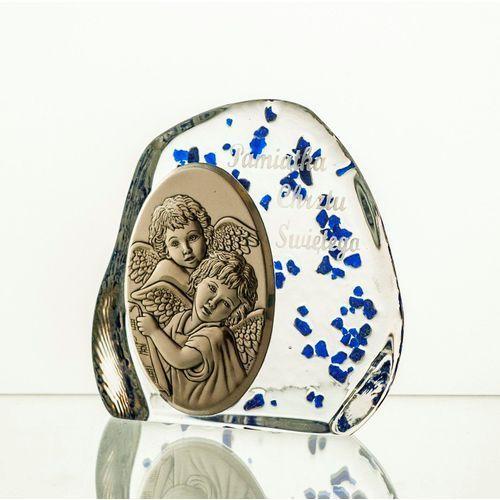 Skałka przycisk z aniołkami na chrzest (2567) marki Crystal julia
