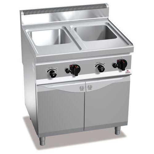 Berto's Urządzenie do gotowania makaronu i pierogów gazowe, wolnostojące, dwukomorowe 2x 30 l, 24 kw, 800x700x900 mm   , macros 700, pasta italy, cpg80e