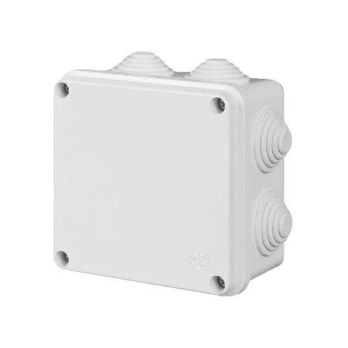 Elektro-plast nasielsk Puszka natynkowa pk-5 hermetyczna ip55 133x133x83 biała 0252-00 ep-lux elektro-plast (5906868435419)