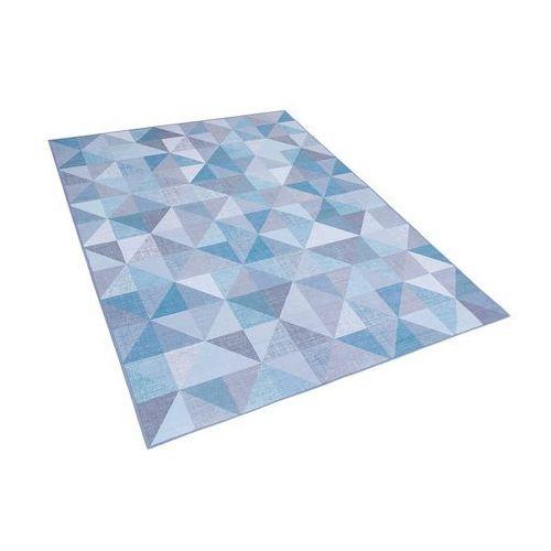 Dywan niebiesko-szary 140 x 200 cm krótkowłosy KARTEPE (4251682200301)