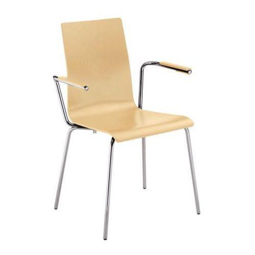 Nowy styl Krzesło cafe vii arm alu/black seat plus