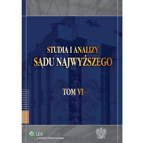 Studia i Analizy Sądu Najwyższego Tom 6 - Krzysztof Ślebzak (2012)