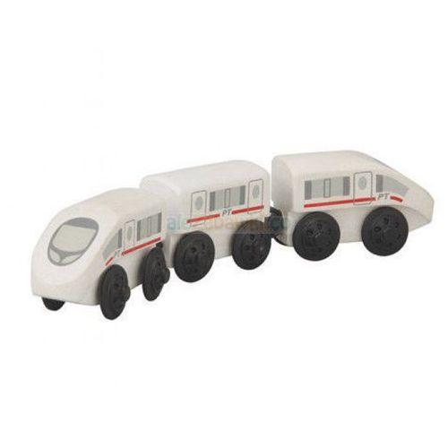 Pociąg ekspresowy, zestaw drewnianych wagoników, Plan Toys PLTO-6035 (8854740060358)