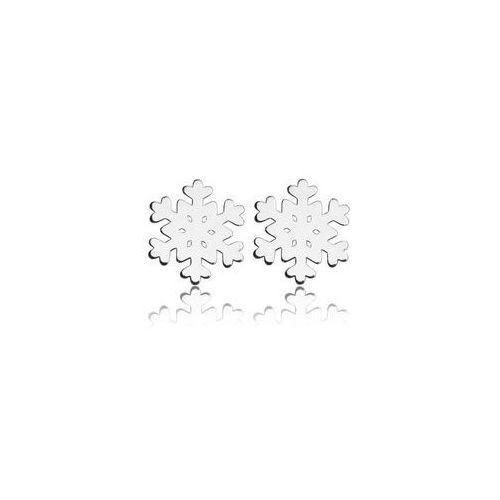 Sztyfty płatki śniegu / śnieżynki, srebro próba 925, SZ 40, kup u jednego z partnerów