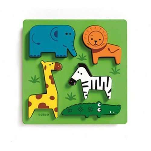 Puzzle drewniane układanka zoo marki Djeco