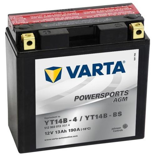 akumulator agm 12 v 13 ah yt14b-4 / yt14b-bs marki Varta