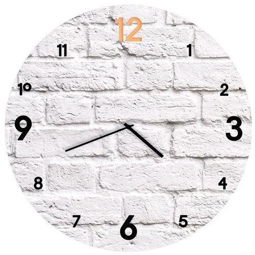 zegar glass clock brick śr. 30 cm marki Styler
