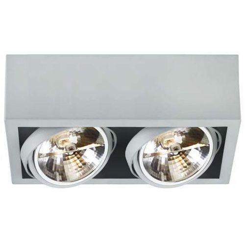 Spot LAMPA sufitowa CUBE 2 70355208 Kaspa metalowa OPRAWA natynkowa minimalistyczny REFLEKTOR halogen szary