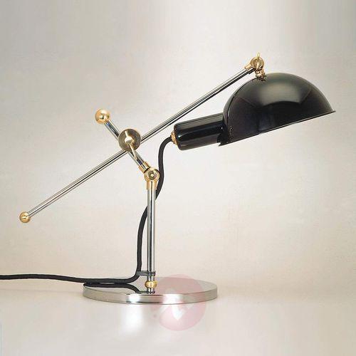 Lampa stołowa z roku 1927 z mosiężnymi przegubami marki Tecnolumen