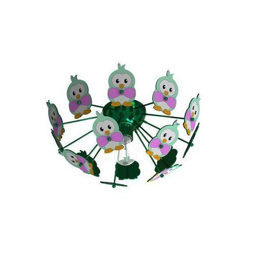 Eglo 95636 - Lampa dziecięca sufitowa VIKI 2 1xE27/60W/230V zielona (9002759956363)