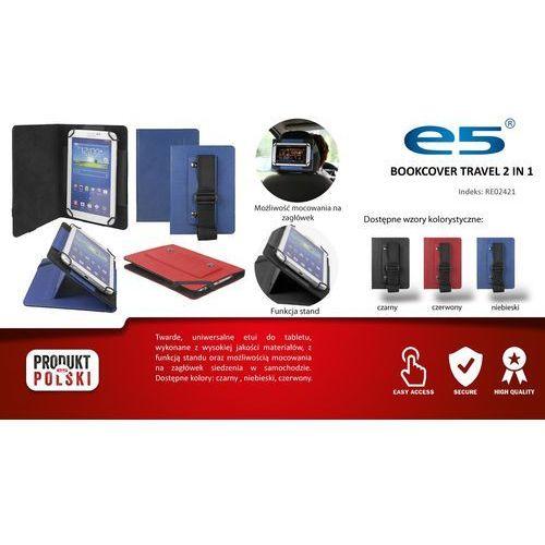 """Etui do tabletu E5 Travel 7""""-8"""", czerwone, z uchwytem na zagłówek (RE0242178red) Darmowy odbiór w 20 miastach! - sprawdź w wybranym sklepie"""