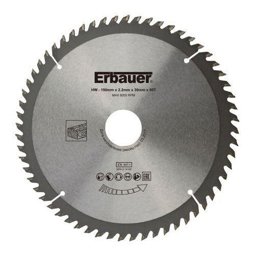 Tarcza do drewna Erbauer 190 x 30/25/20/16 mm 60T