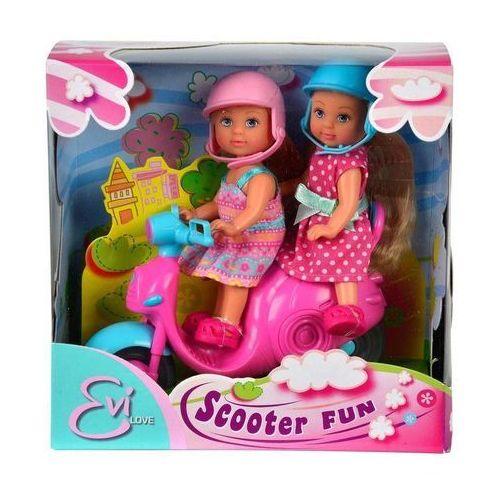 Lalki SIMBA Dwie Evi na skuterze z kategorii Lalki
