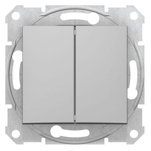 Przełącznik schodowy Schneider Sedna SDN0600160 podwójny aluminium (8690495032802)
