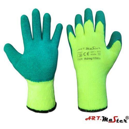 Rękawice ochronne ocieplane z termicznej akrylowej dzianiny Rdrag10Win kat. I 10