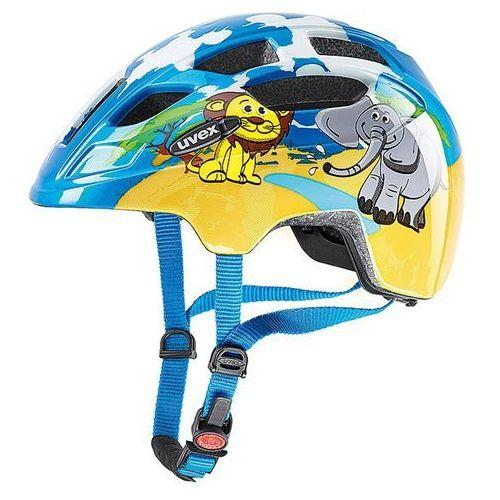 Uvex Dziecięcy kask rowerowy finale junior 48-52cm safari (niebieski/żółty)