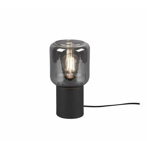 Trio RL Nico R50591032 lampa stołowa lampka 1x40W E27 czarna/dymiona (4017807463811)