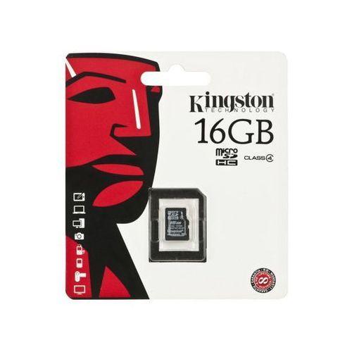 KINGSTON Micro SD SDC4/16GBSP >> BOGATA OFERTA - SZYBKA WYSYŁKA - PROMOCJE - DARMOWY TRANSPORT OD 99 ZŁ! (8338876251683)