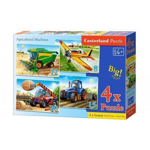 Castorland 4x1 puzzle 8-12-15-20 agricultural machines - castor (5904438041039)